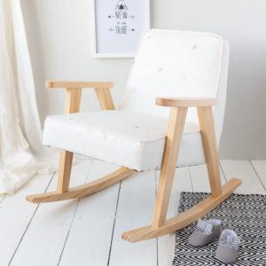 White Star Print Children's Rocking Chair