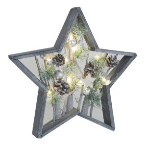 Small Or Large Grey Washed LED Star