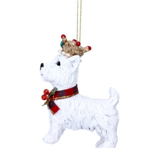 Christmas Dog Decoration With Crown Assortment