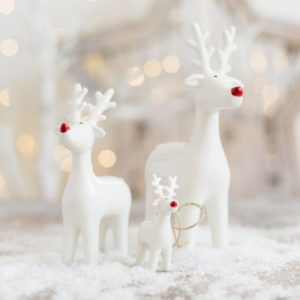 White Ceramic Reindeer Assortment