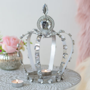 Silver Dominate Crown Tealight Holder