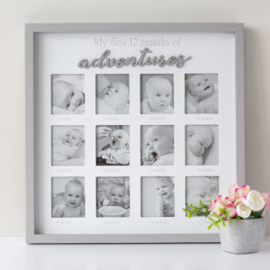 Grey My First Year Baby Frame