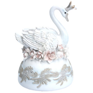 White Swan Lake Musical Figurine