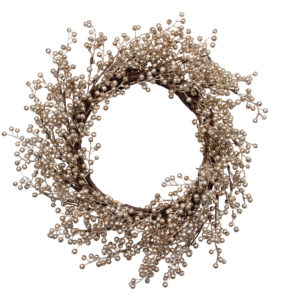 Christmas Pale Gold Berry Wreath