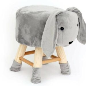 Children's Grey Rabbit Stool