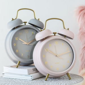 Large Pink Or Grey Alarm Clock