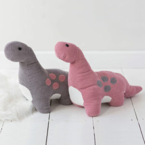 Pink Or Grey Dinosaur Doorstop