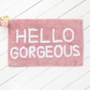 Hello Gorgeous Pink Bath Mat?