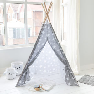 Grey & White Star Tepee
