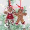 Set of Two Gingerbread Hanging Decorations