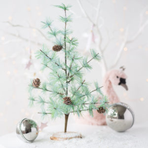Glitter Fir Tree With Pine Cones