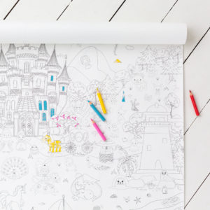Large Giant Children Princess Colouring Poster