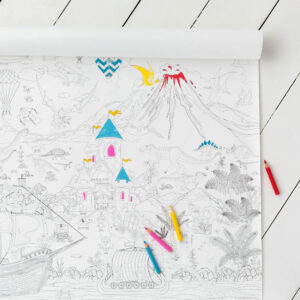 Large Giant Children Action Packed Colouring Poster
