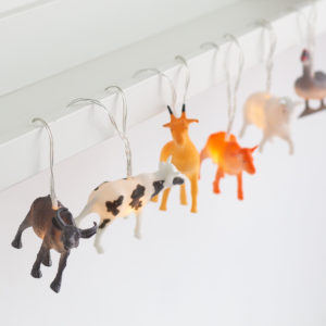 String of Natural Farm Animal Fairy Lights