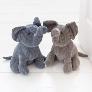 Grey or Brown Elephant Doorstop