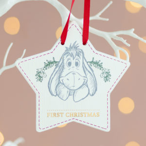 Disney Baby's First Christmas Eeyore Hanging Plaque