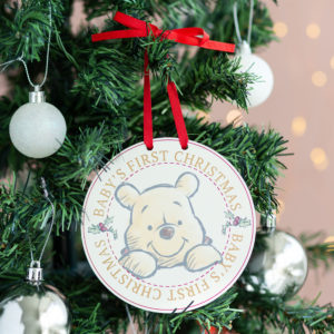 Disney Baby's First Christmas Winnie Hanging Plaque