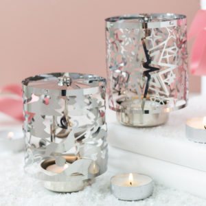 Christmas Silver Rotary Tealight Holder