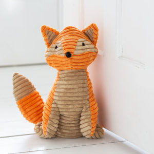 Orange Ribbed Fox Doorstop
