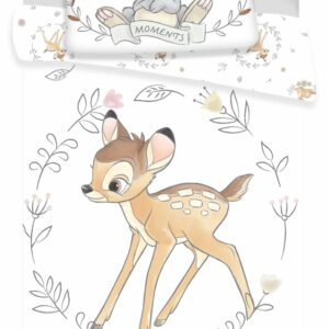 Disney Bambi White Cot Bed Cover Set
