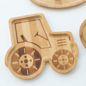 Kids Tractor Bamboo Plate