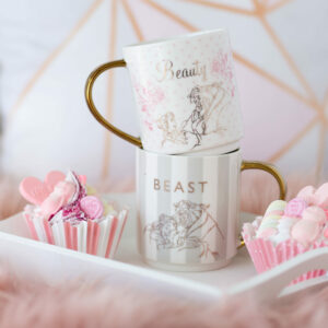 Disney Set of 2 Beauty & The Beast Happily Ever After Mugs