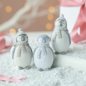 Set of 3 Standing Penguin Christmas Ornaments