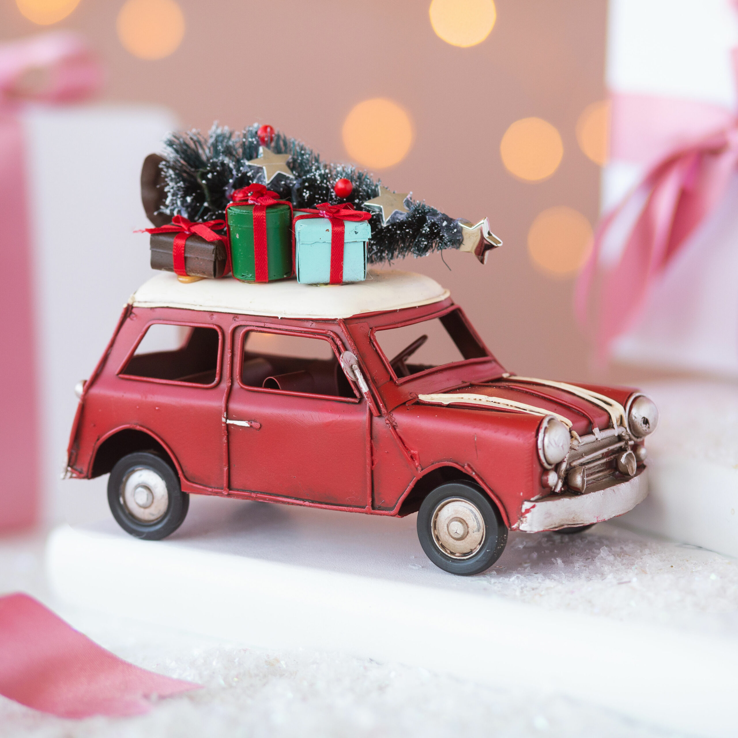 Driving Home for Christmas Mini Car Decoration