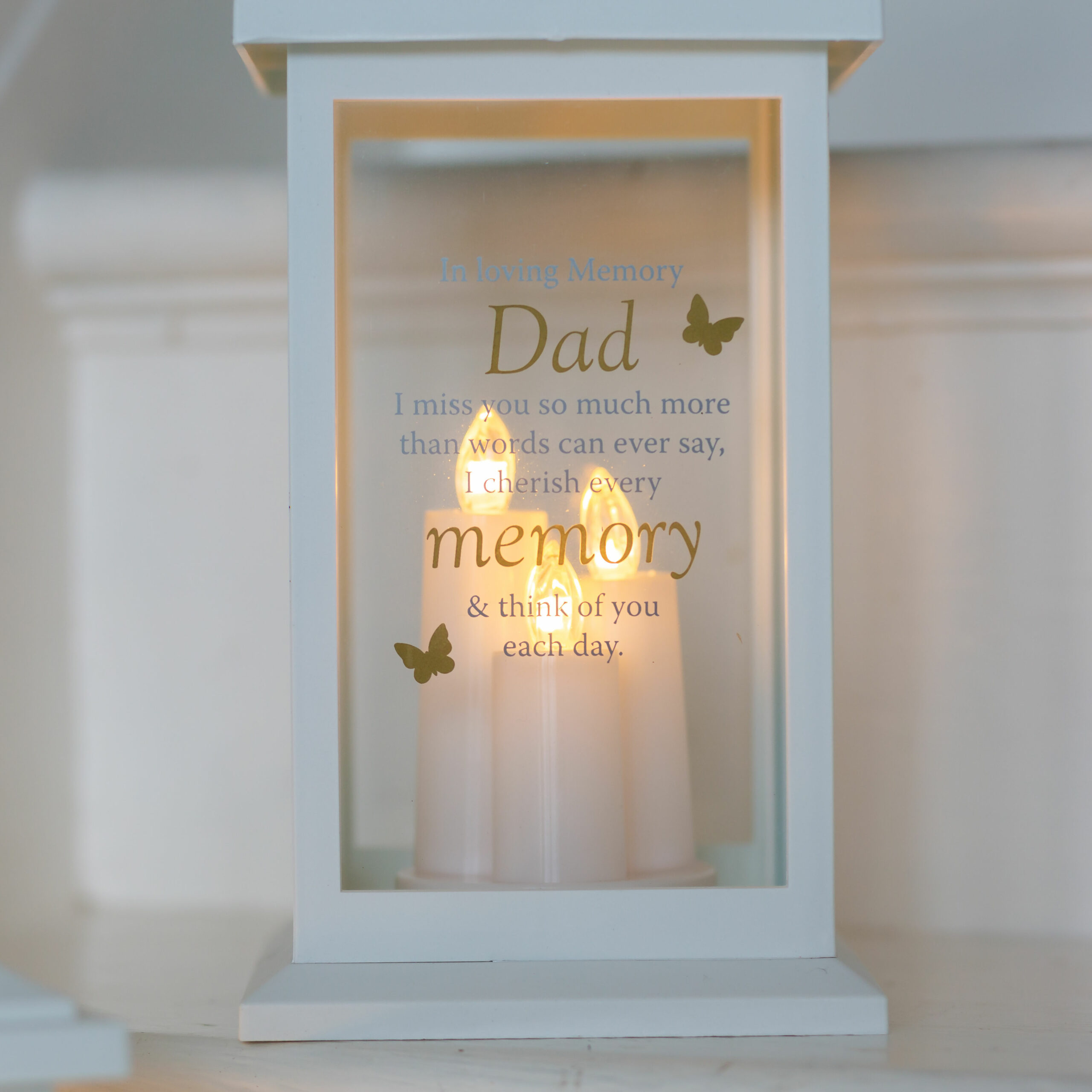 Thoughts Of You Memorial Lantern - Dad